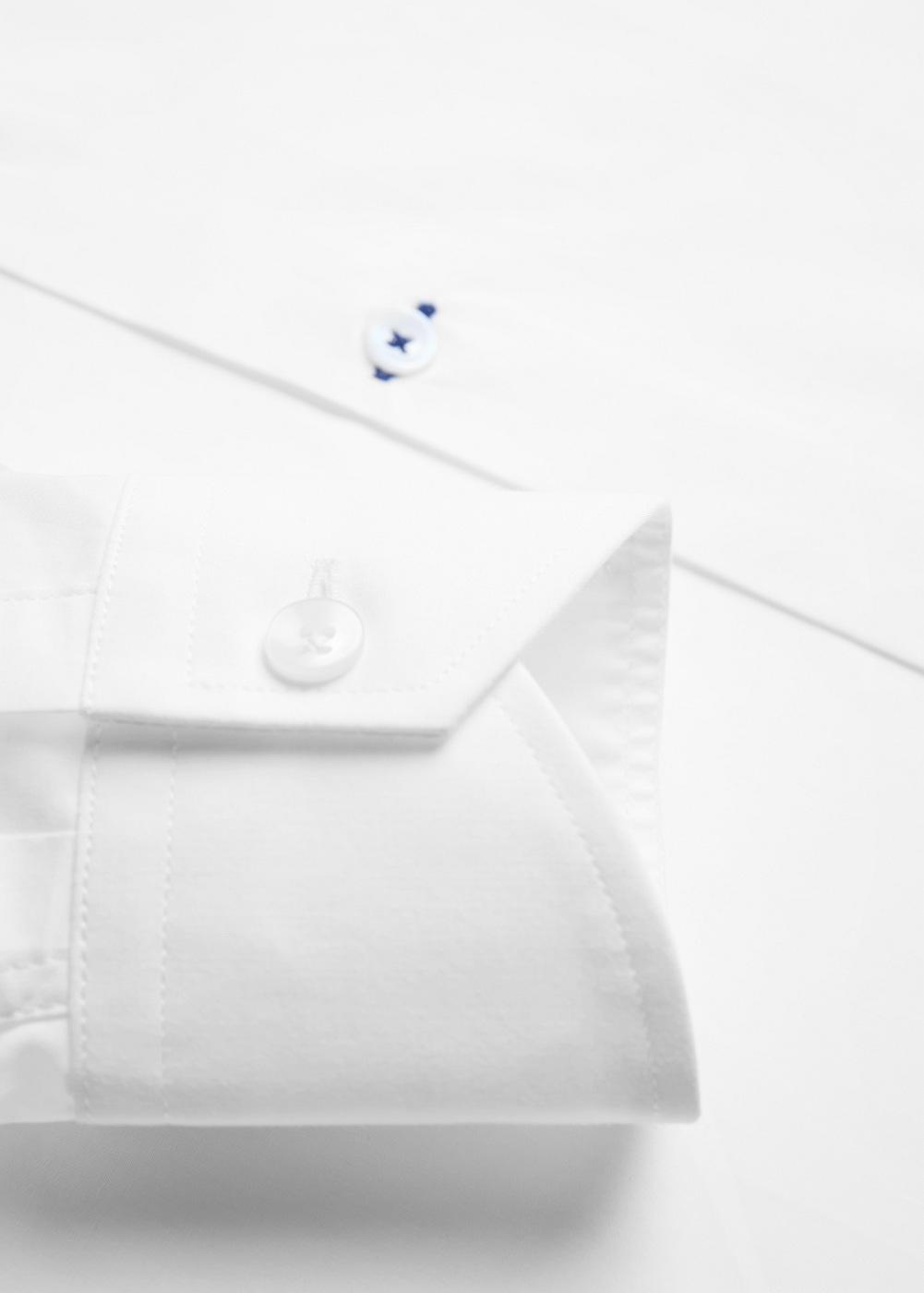 camisa blanca varon puño